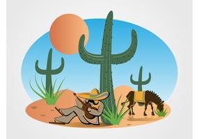 Mexican Desert Vector