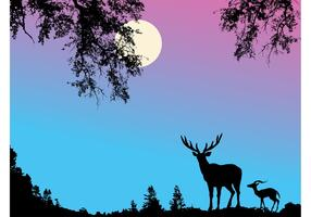Deer Background Vector