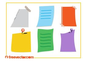 Colorful Notes Vectors