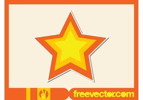 Star Sticker Vector