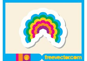 Rainbow Sticker Vector