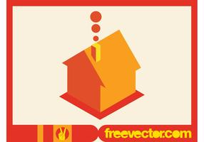 Vector House Icon in 3D