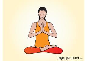 Vector Yoga Woman