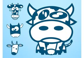 Cow Characters Vector