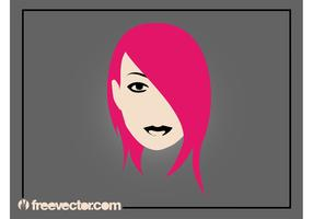 Emo Girl Vector