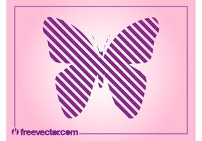 Striped Butterfly Vector