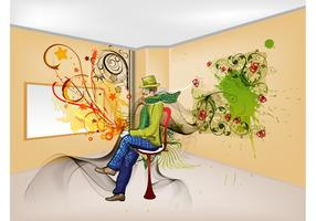 Colorful Room Vector