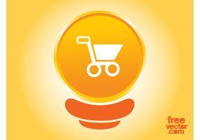 Orange Warenkorb Button