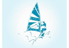 Windsurfing Girl Silhouette