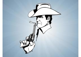 Cowboy With Gun