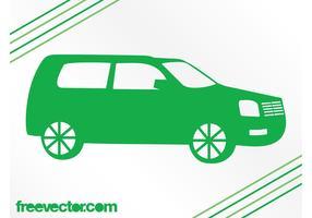 Green SUV Silhouette