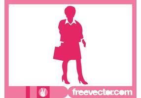 Businesswoman With Briefcase Silhouette