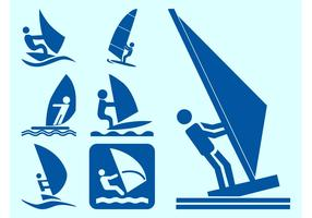Windsurfers Icons