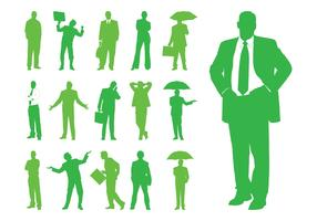 Businesspeople Silhouettes Graphics