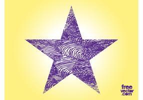 Purple Grunge Star