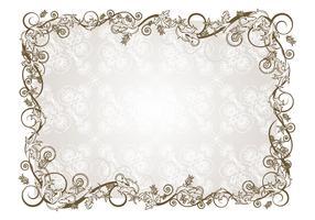 Retro Floral Frame