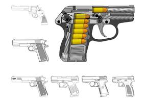 Handguns Graphics Set