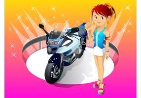 Girl With Motorcycle