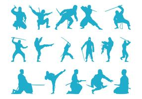 Ninjas Silhouettes
