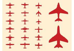 Plane Silhouettes Set