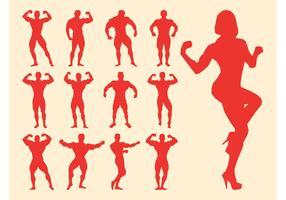 Bodybuilders Silhouettes