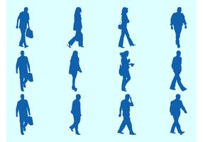 Walking People Silhouettes Graphics