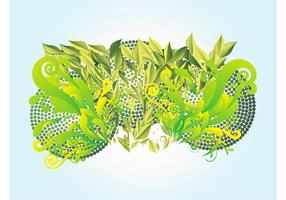 Swirling Plants Illustration