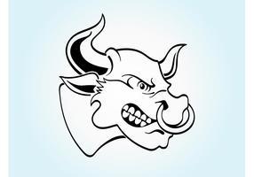 Angry Cartoon Bull