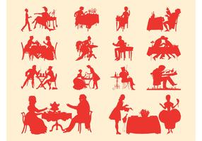 Vintage People Silhouette Set