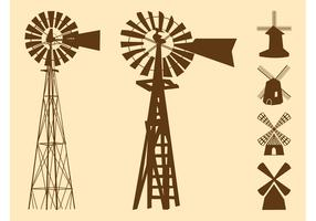 Windmills Silhouettes