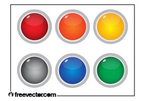 Colorful Round Buttons