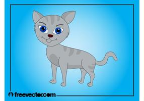 Gray Cartoon Cat