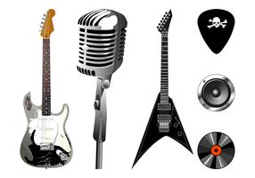 Musical Equipment Graphics Set