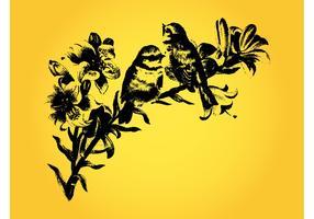 Vintage Birds Drawing