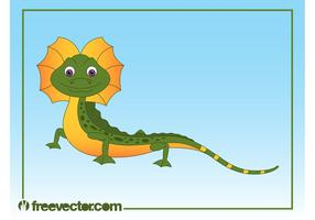 Happy Cartoon Lizard