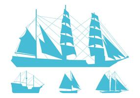 Sailing Ships Silhouettes