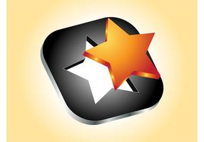 3D Star Icon