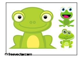 Cartoon Frogs Set