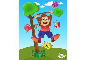 Happy Monkey Character