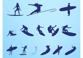 Surfer Silhouettes Graphics