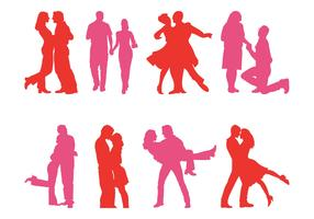 Couple Silhouettes Set