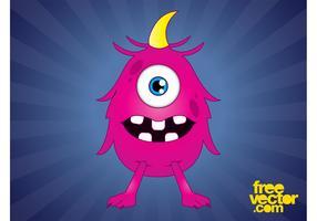 Pink Cartoon Monster