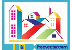 Stylized Colorful Houses