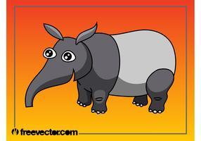 Cartoon Tapir Character