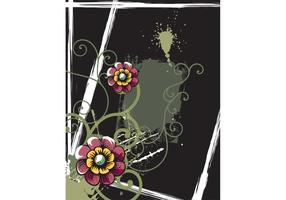 Retro Floral Poster