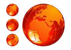 Orange Globes Set