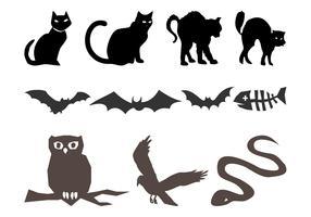 Halloween Animals Silhouettes