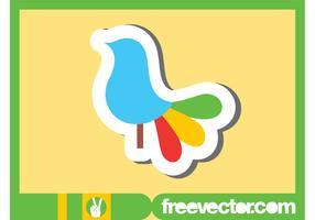 Colorful Bird Sticker