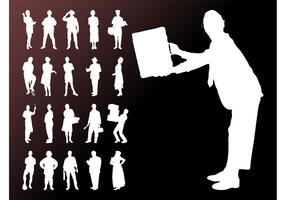 People Silhouettes Graphics Set
