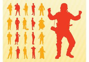 Silhouettes Of People Set